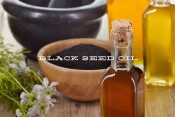 black seed oil (nigella sativa) bottle