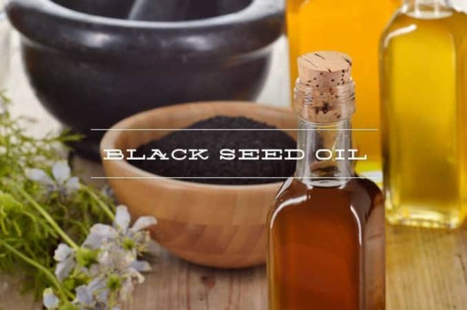 black seed oil (nigella sativa) bottle