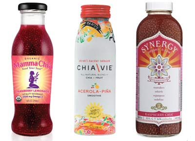 drinks made using chia