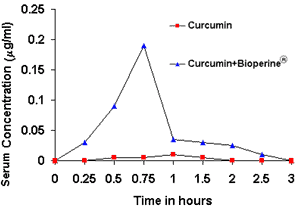 curcumin bioavailabity using BioPerine
