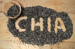 chia seeds on countertop