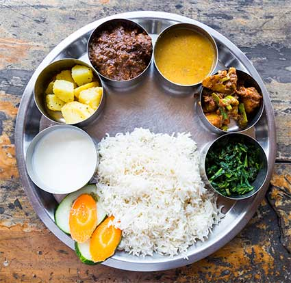dal bhat plate