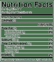 tarta chery juice concentra información nutricional