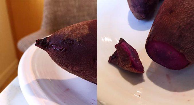 burnt ends of potato
