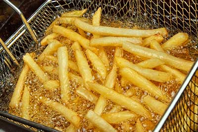 deep frying fries