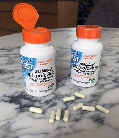 Doctor's Best R lipoic acid bottles