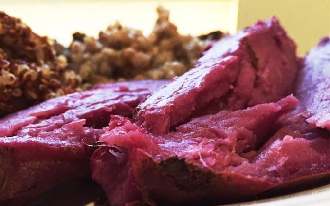 vegan gluten free meal close-up photo