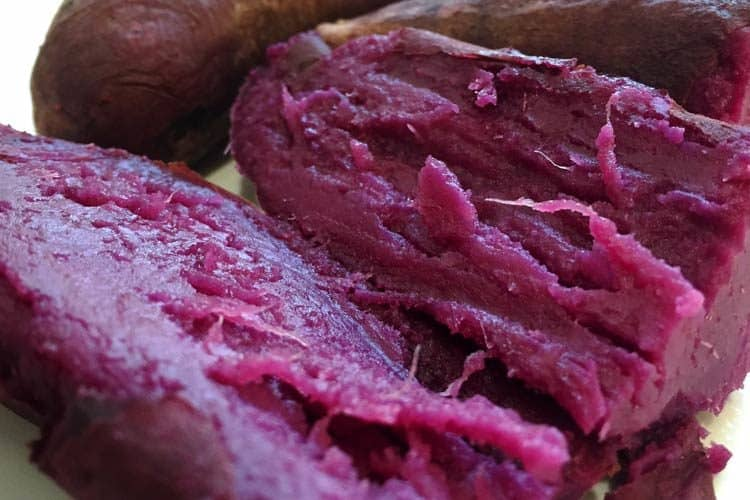 baked purple sweet potatoes