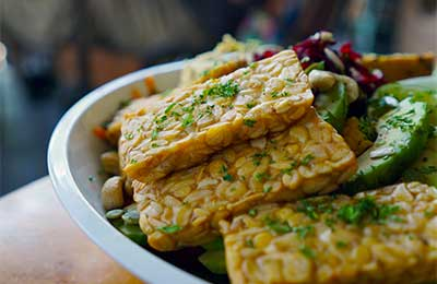 plate of tempeh