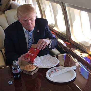Trump eating McDonald's fries