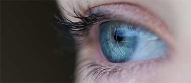 aqua colored eye
