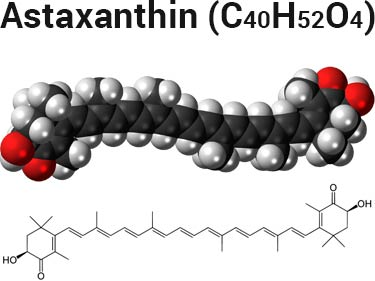 astaxanthin molecule and chemical formula