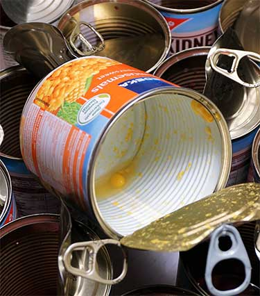 BPA lining on canned food