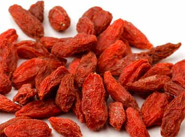 dried goji berries up close