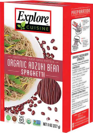 Explore Asian adzuki bean spaghetti