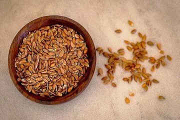 flax seeds in dish