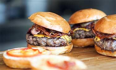 greasy burgers