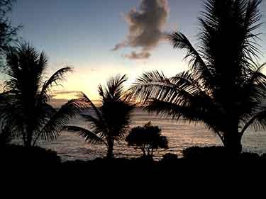 Guam beach silhouette