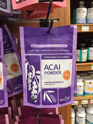 Navitas acai powder bag