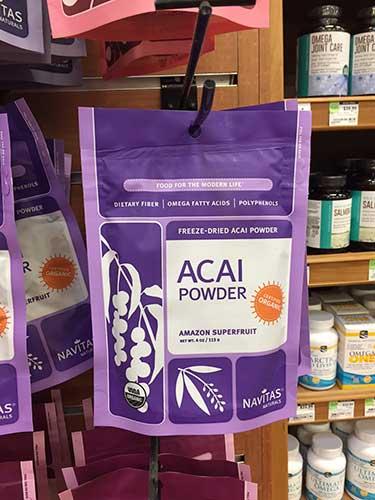 Navitas acai powder bag