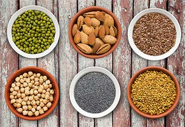 People on plant-based diets substitute meat and dairy (omega 6's) with grains, legumes, and seeds (omega 3's)