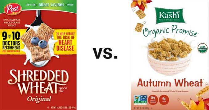 Post vs. Kashi cereal