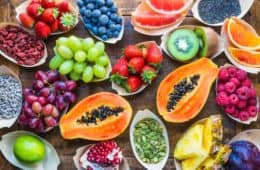 various protein rich fruits