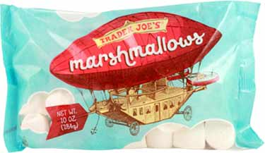 bag of Trader Joes vegan marshmallows