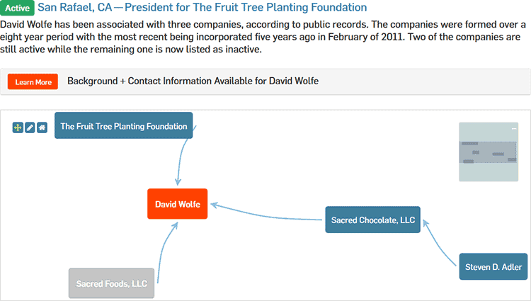 David Wolfe's entry on CorporationWiki