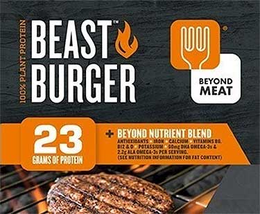 Beyond Meat beast burger