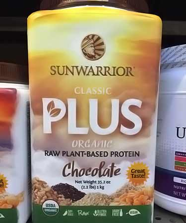 Sunwarrior Classic Plus chocolate 1 kg size