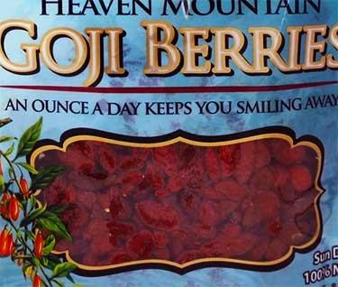 Dragon Herbs goji package