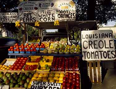 farmers market stand in Louisiana