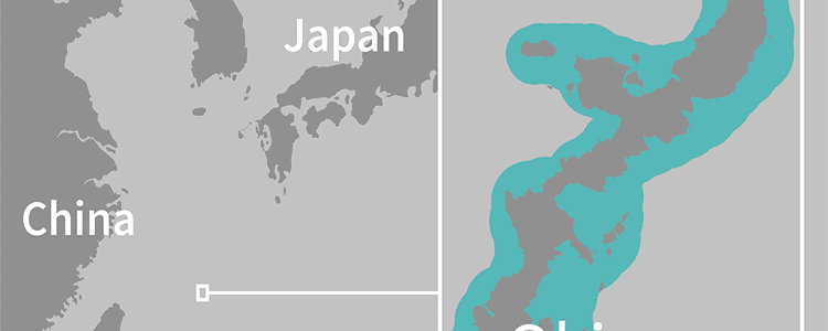 map of Okinawa island