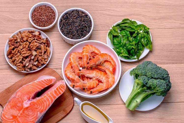 salmon, nuts, and seeds rich in omega 3