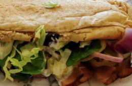 Subway sandwich closeup photo
