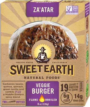 Sweet Earth Za'atar hamburguesas vegetarianas