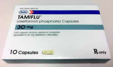 Tamiflu packaging