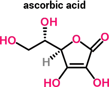 ascorbic acid molecule chemical structure
