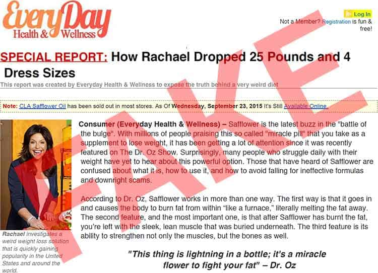 fake Rachael Ray review