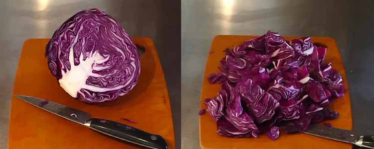 half head of cabbage