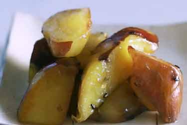 Japenese white potato, cooked