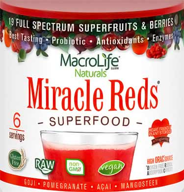 Miracle Reds superfood jar