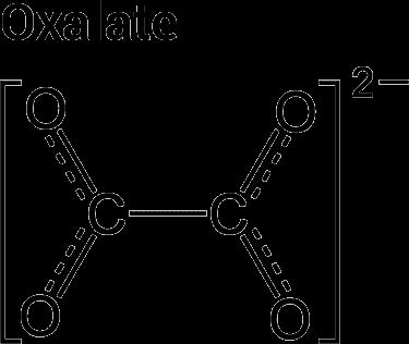 estructura química de oxalato