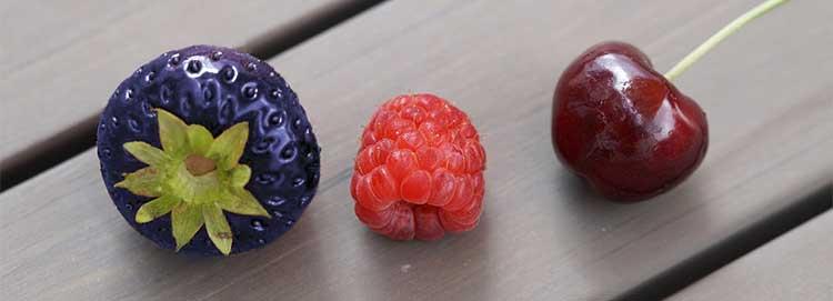 purple black strawberry