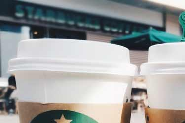 Starbucks coffee cups