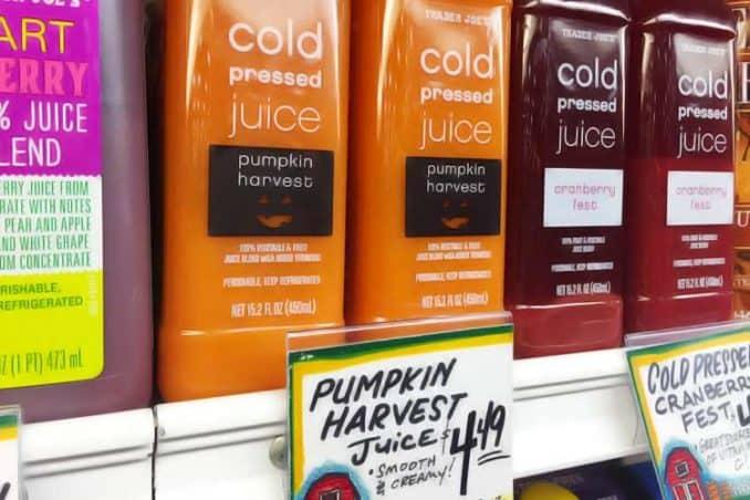 Trader Joe's pumpkin juice