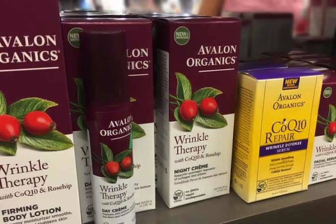 Avalon Organics CoQ10 Repair and Wrinkle Therapy products
