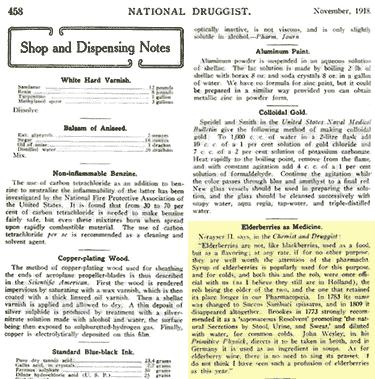 National Druggist article about elderberries for common colds