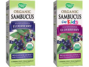 organic Sambucus for kids and adults